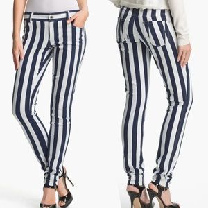 Eunina Revolve Black & White Striped Jeans Pants